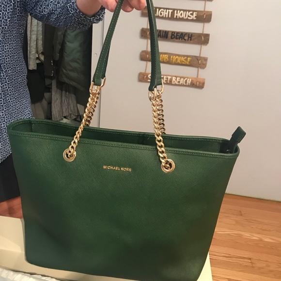 dccd2618abc9 Michael Kors Bags | Dark Green Tote | Poshmark